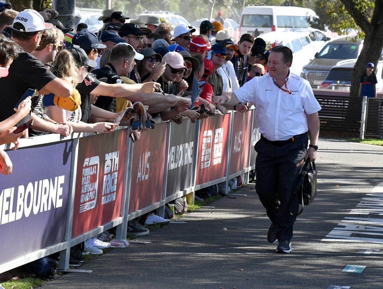 2020年F1オーストラリアGP マクラーレンCEOザク・ブラウン