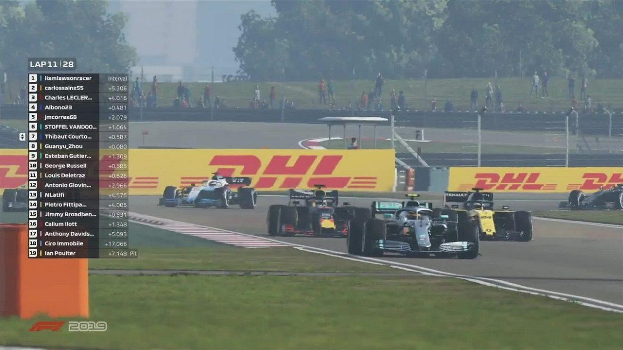 2020年F1公式バーチャルGP第3戦中国