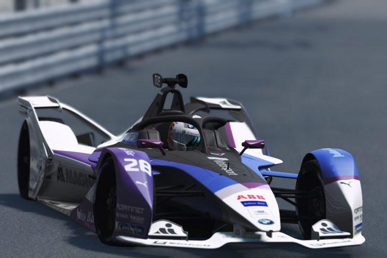 海外レース他 | フォーミュラE:eスポーツテストレースはBMWのギュンターが優勝。代役参戦のキャシディが4位
