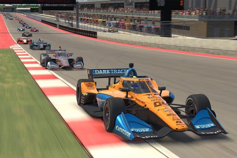 海外レース他   インディカーiRacingチャレンジ第5戦はゲスト参戦のランド・ノリスがデビューウイン!