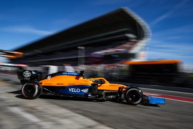 2020年F1プレシーズンテストでのノリス