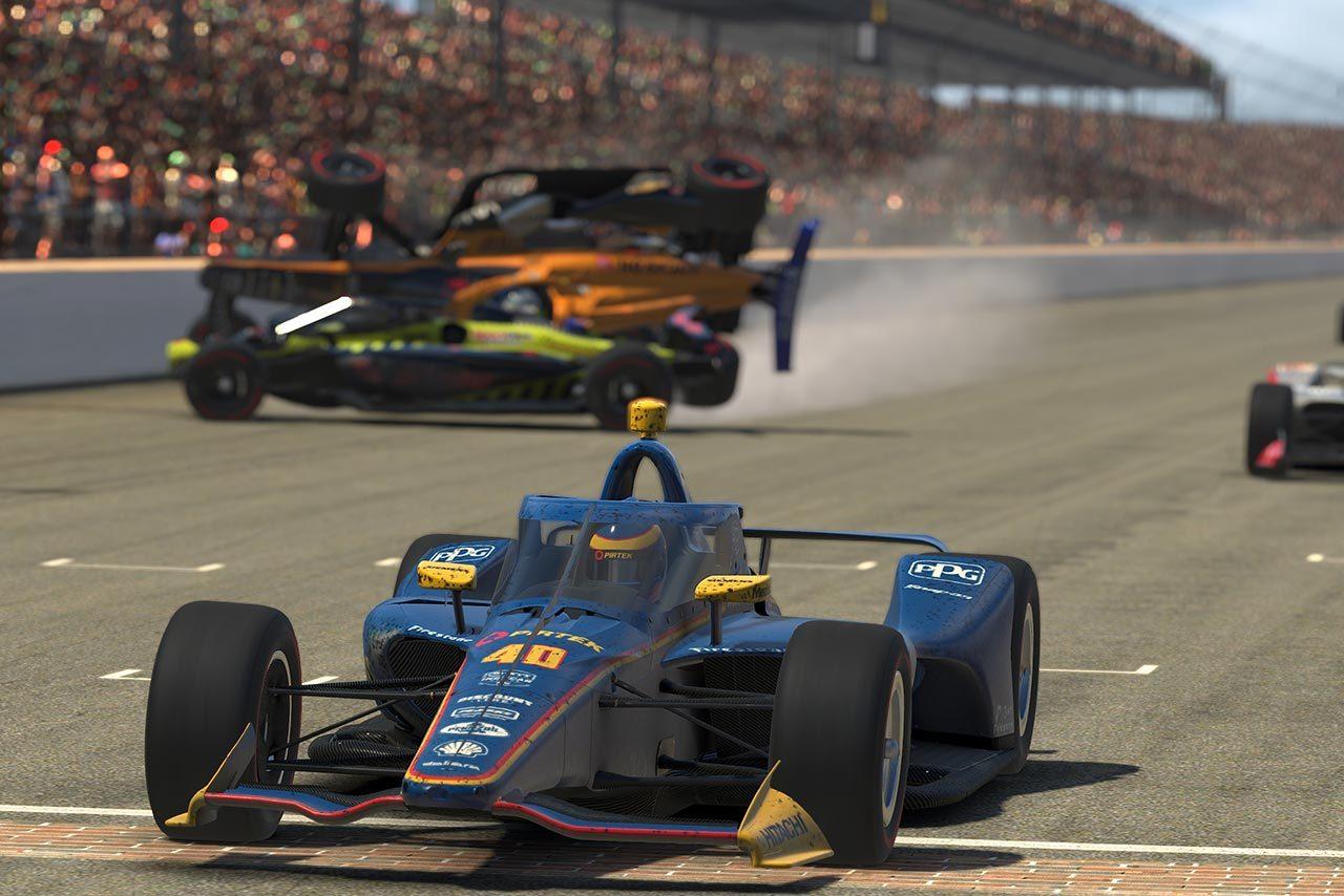 インディカーiRacingチャレンジ第6戦は最終周に大荒れ。マクラフランが2勝目で締めくくる