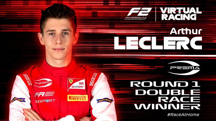 海外レース他 | FIA-F2:バーチャルレース第1戦はプレマ・レーシングから参戦のルクレール弟が連勝を飾る