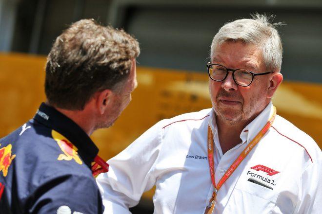 ロス・ブラウン(F1のモータースポーツ担当マネージングディレクター)とクリスチャン・ホーナー(レッドブル代表)