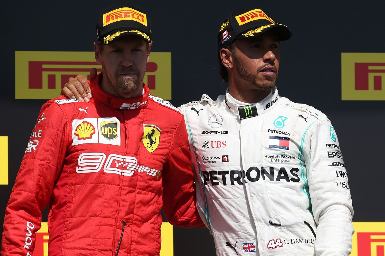 2019年F1カナダGP セバスチャン・ベッテル(フェラーリ)とルイス・ハミルトン(メルセデス)
