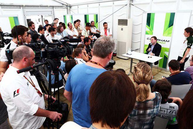 2014年F1日本GPの金曜日に行われたケータハムF1マンフレディ・ラベット代表の記者会見