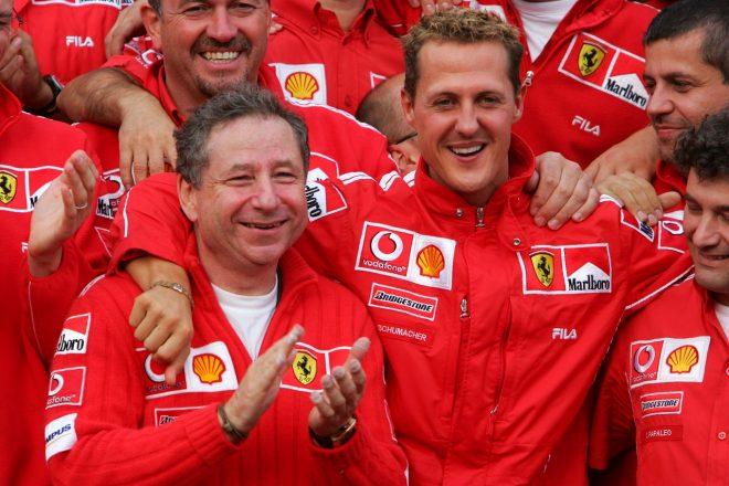 2004年F1ベルギーGP ミハエル・シューマッハーとフェラーリのチームマネージャー、ジャン・トッド