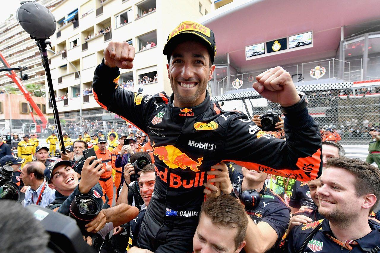 2018年F1モナコGP 優勝したダニエル・リカルド(レッドブル)