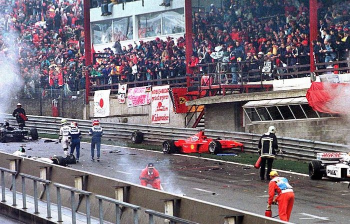 1998年F1ベルギーGPでのクラッシュ