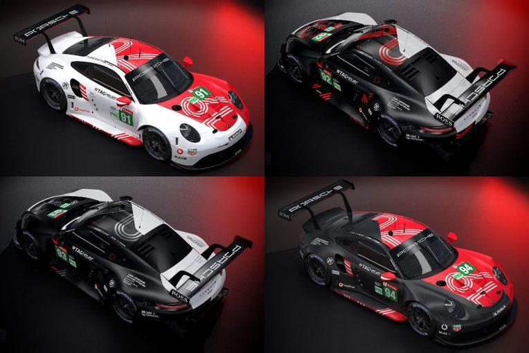 ル・マン/WEC | ポルシェ、ル・マン24時間バーチャルに投入する『911 RSR』のカラーリングを公開