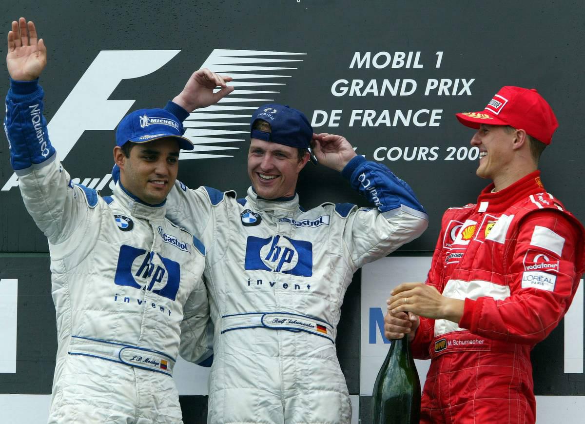 2003年F1第10戦フランスGP 表彰式