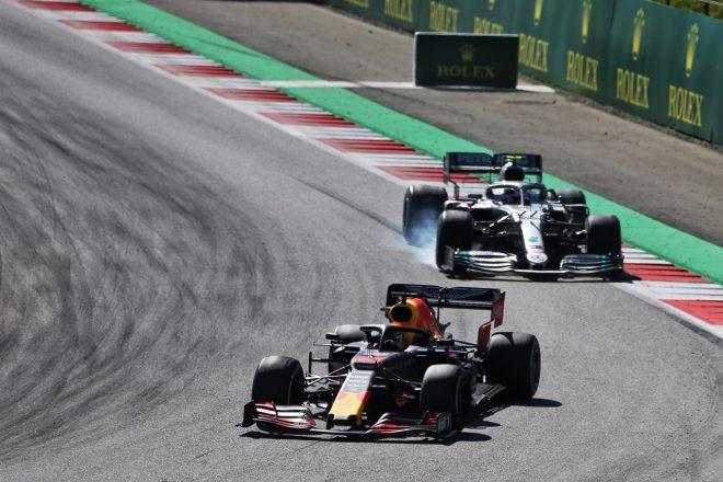 2019年F1オーストリアGP マックス・フェルスタッペン(レッドブル・ホンダ)とバルテリ・ボッタス(メルセデス)