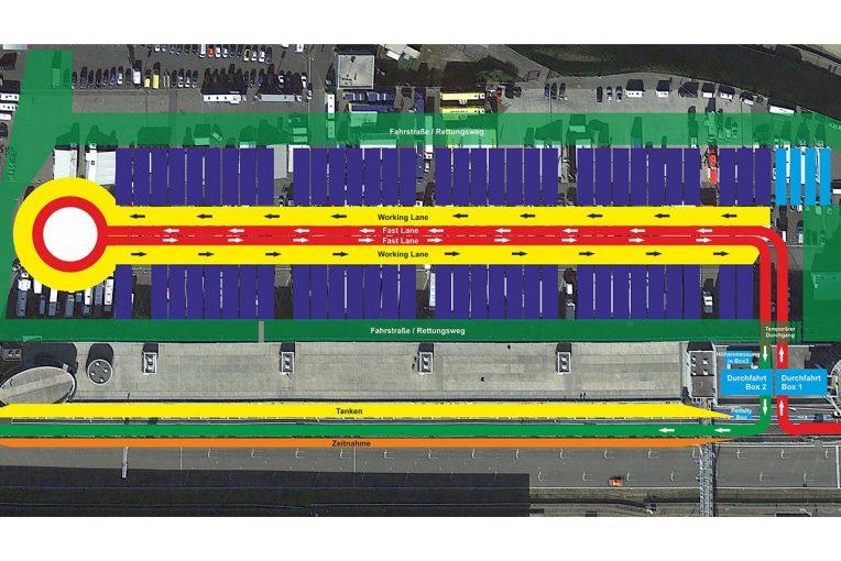 海外レース他   パドックにロータリーを設置。VLNが感染対策のオープンエアピットレーン計画改定版を発表