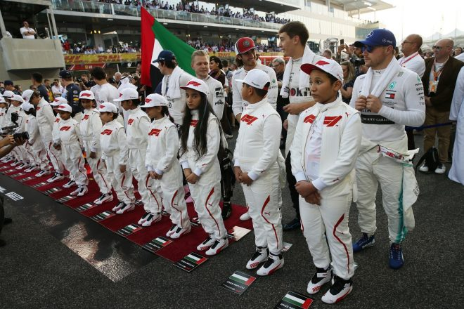 2019年F1アブダビGP 決勝前のグリッド
