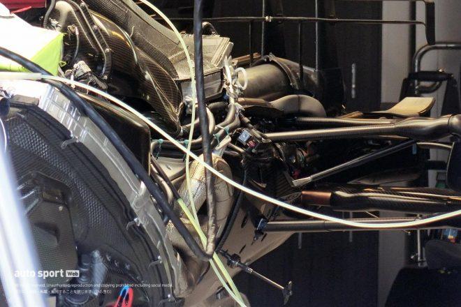 メルセデス2019年マシンW10のインターナル