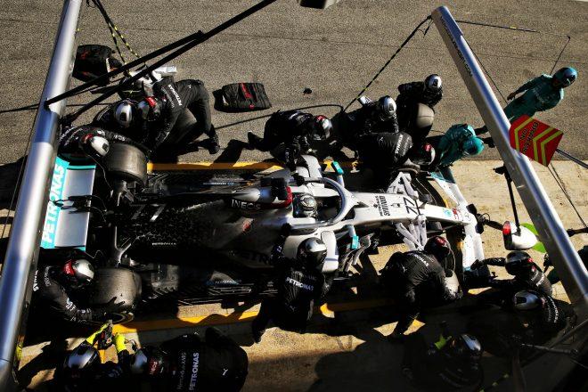 2020年F1プレシーズンテスト メルセデスがピットストップ練習