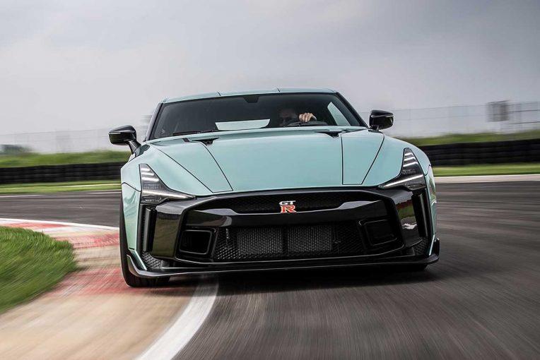 クルマ   【動画】1億円超とも言われる『GT-R50 by Italdesign』がイタリアのサーキットを疾走