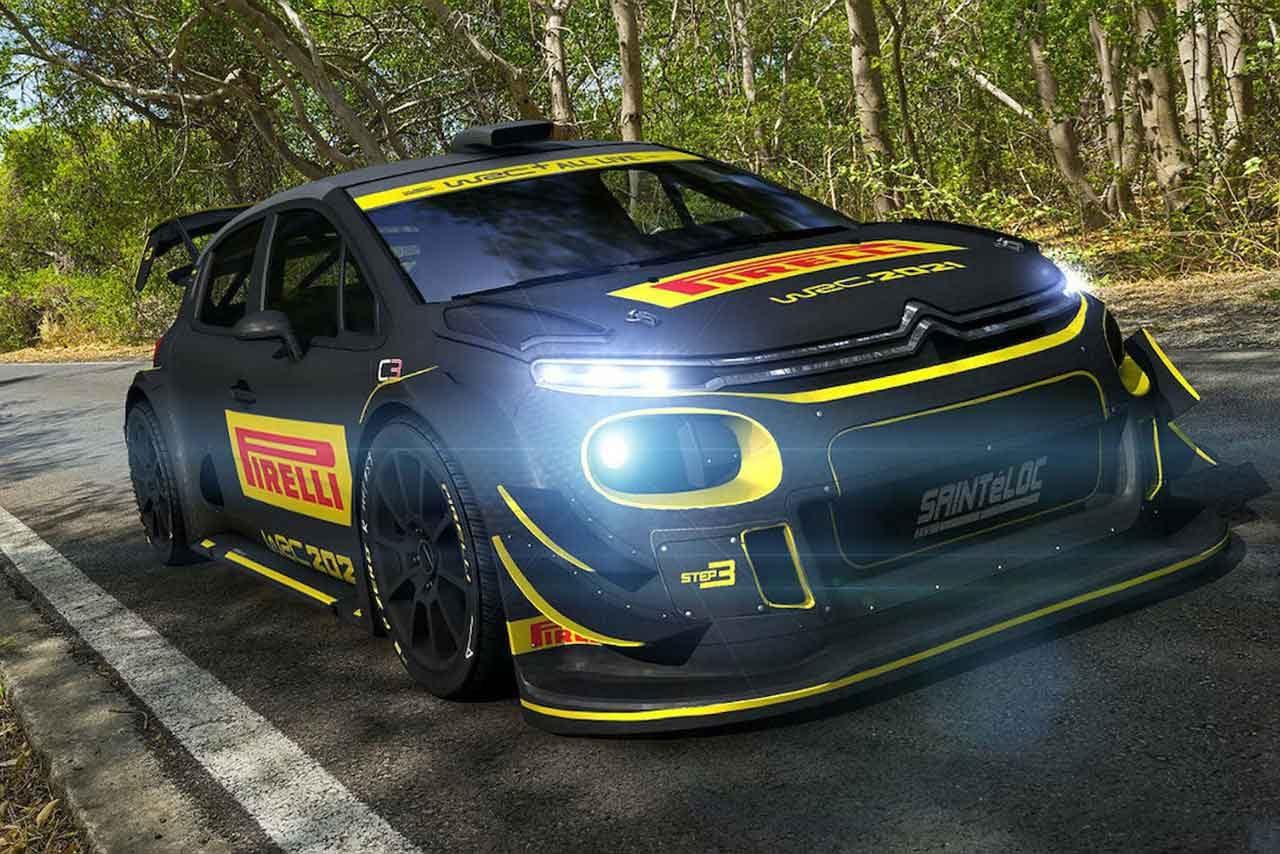 ピレリカラーをまとったシトロエンC3 WRCのイメージ画像