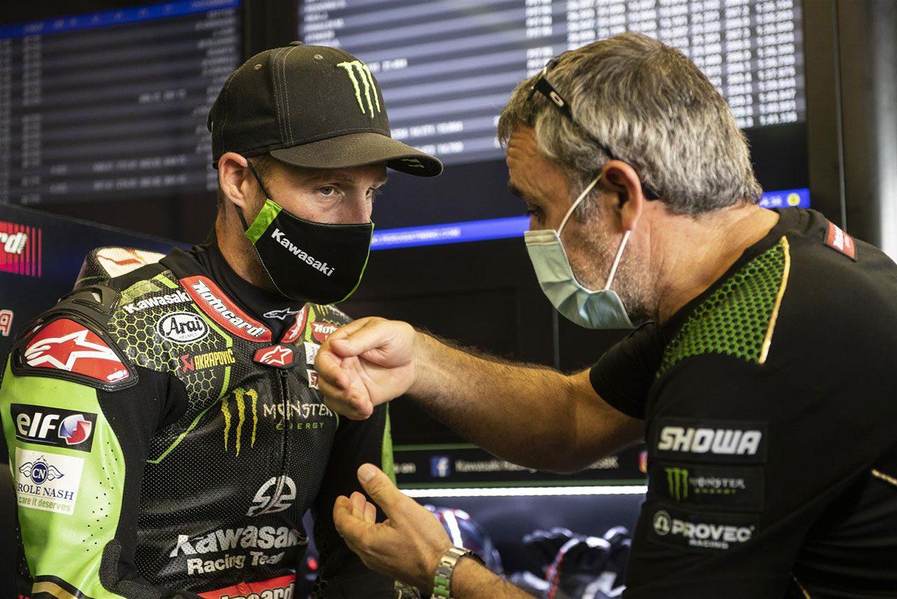 カワサキのマスクをつけるジョナサン・レイ(カワサキ・レーシングチーム・ワールドSBK)