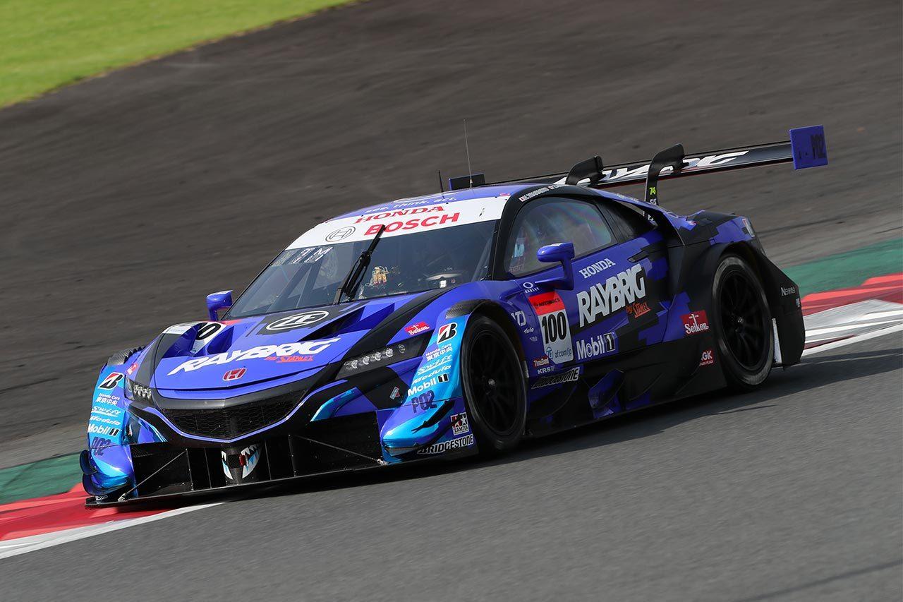 スーパーGT富士公式テスト:1日目午後は牧野任祐のRAYBRIG NSX-GTがトップタイムをマーク