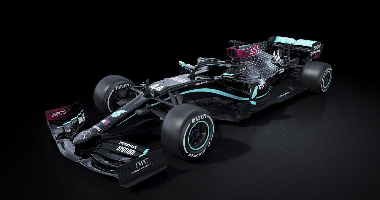 メルセデスの2020年型マシンW11の新カラーリング