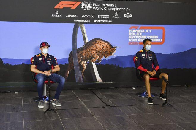2020年F1第1戦オーストリアGP木曜記者会見 マックス・フェルスタッペンとアレクサンダー・アルボン(レッドブル・ホンダ)