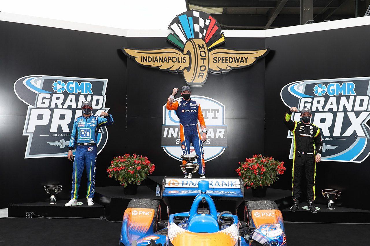 インディカー第2戦GMRグランプリ:驚速ディクソンが2連勝。佐藤琢磨は粘りの走りを披露