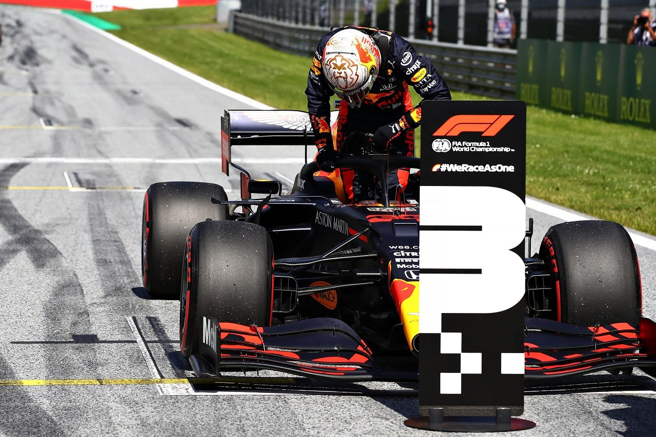 2020年F1第1戦オーストリアGP マックス・フェルスタッペン(レッドブル・ホンダ)予選3番手を獲得