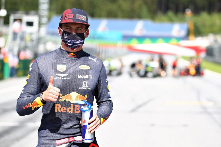 F1   レッドブル・ホンダF1のフェルスタッペン、0.5秒差の予選3番手「メルセデスは別次元だが、勝利の可能性を探り全力尽くす」