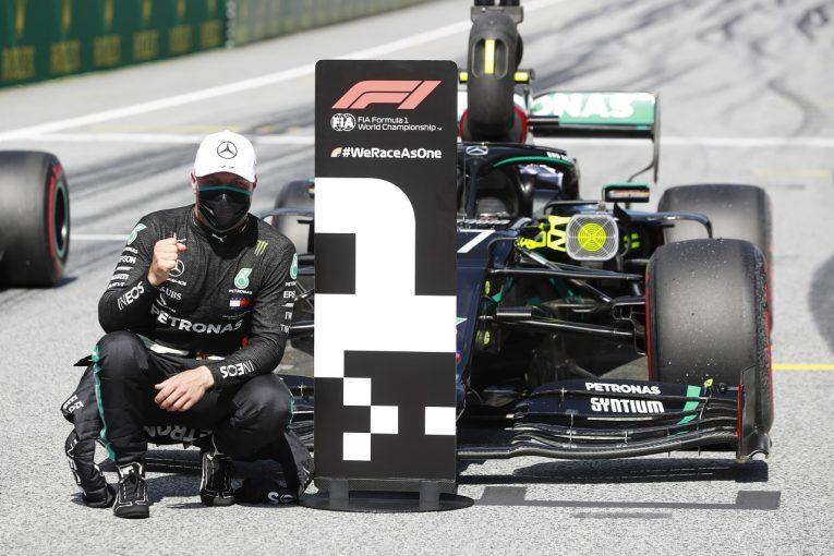 F1 | ボッタス、0.012秒差で2020年初ポール「走り終えた後、震えた。最高のマシン」メルセデス F1オーストリアGP