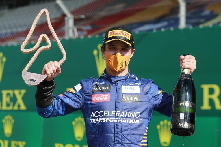 F1 | マクラーレンF1のノリスが初表彰台獲得「ミスを抑え、巡ってきたチャンスをすべて生かした」:オーストリアGP