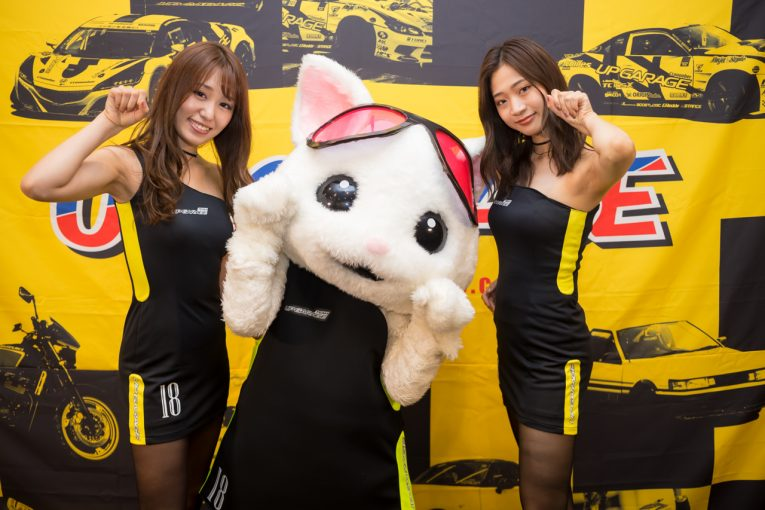 レースクイーン   TEAM UPGARAGEの新レースクイーンユニット「HONEYS」がコスチュームをお披露目