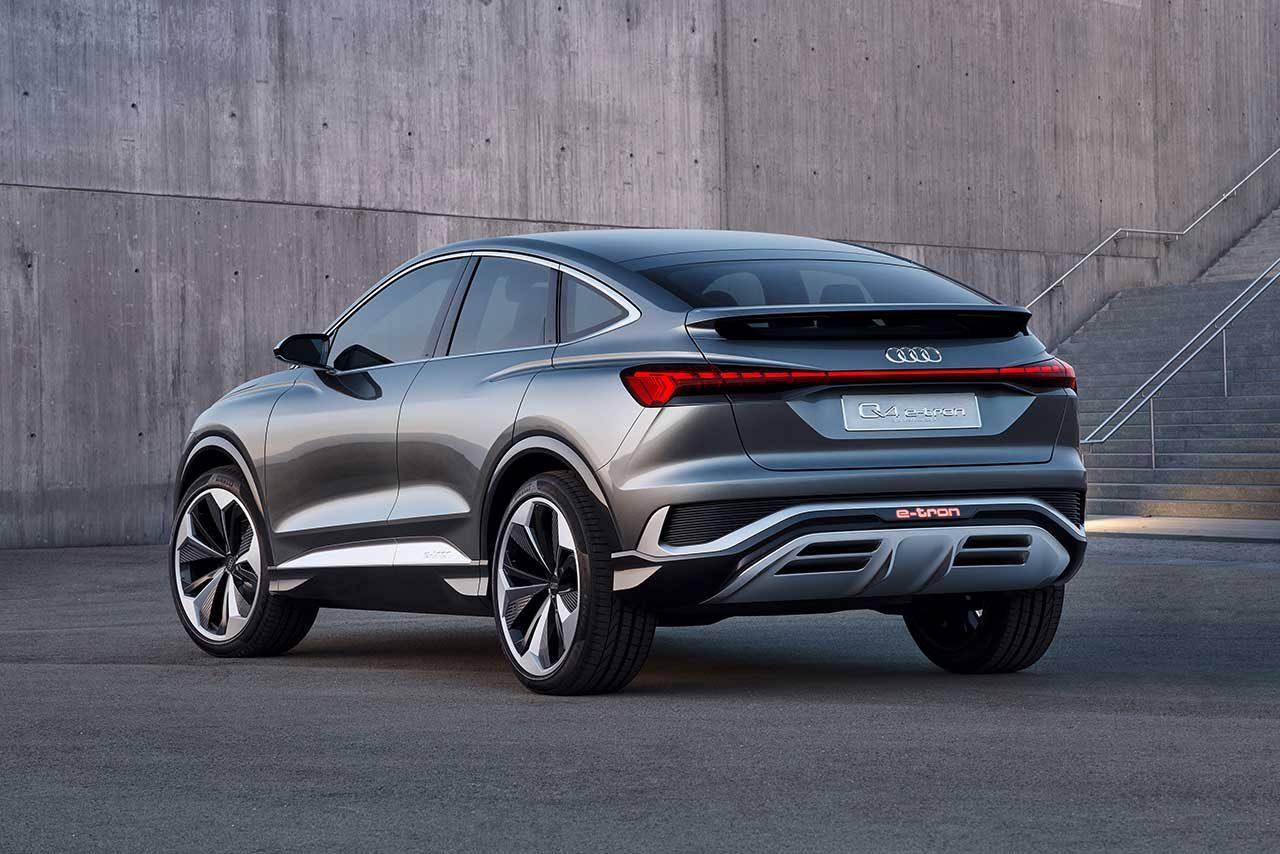 アウディ、クーペを連想させる電動SUVの『Q4スポーツバック e-tron concept』を発表