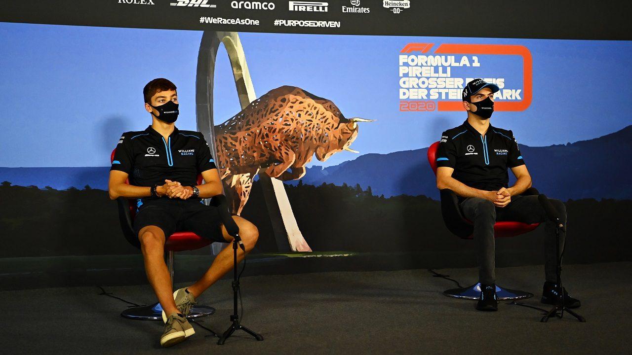 2020年F1第2戦シュタイアーマルクGP木曜記者会見 ジョージ・ラッセルとニコラス・ラティフィ(ウイリアムズ)