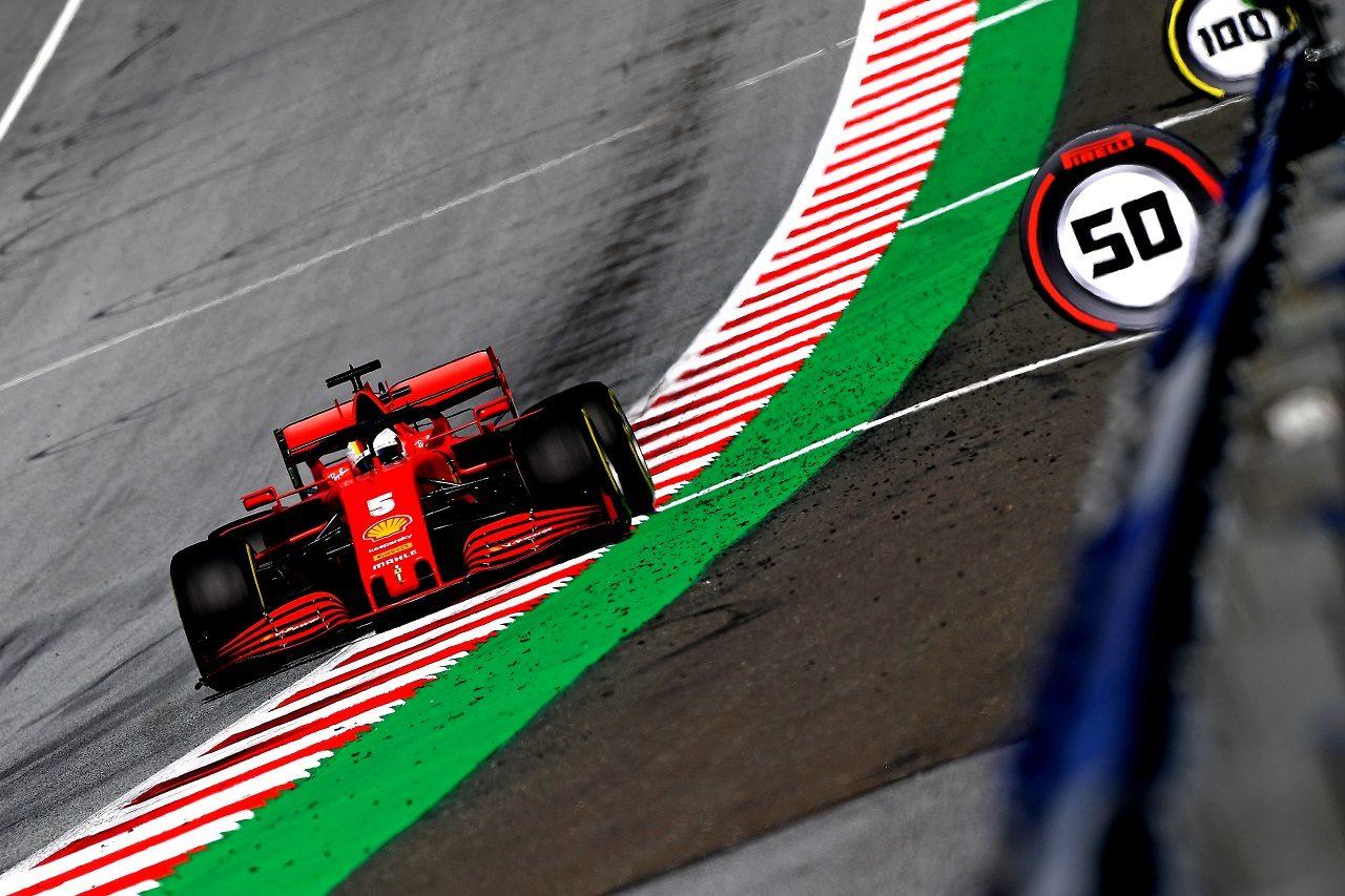 2020年F1第2戦シュタイアーマルクGP金曜 セバスチャン・ベッテル(フェラーリ)