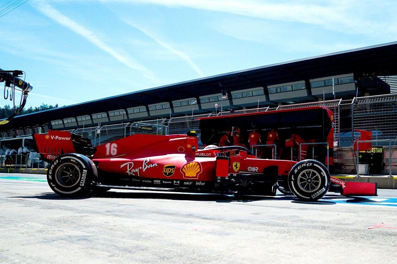 2020年F1第2戦シュタイアーマルクGP金曜 シャルル・ルクレール(フェラーリ)