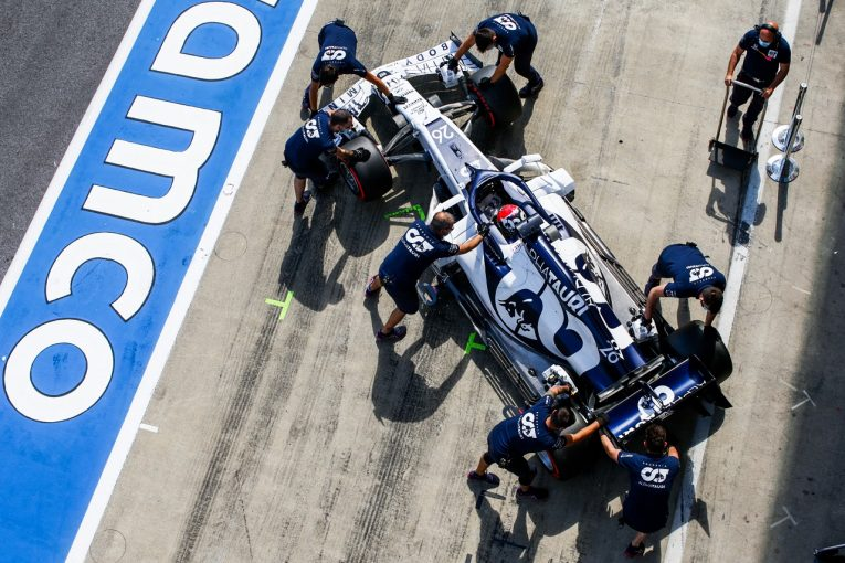F1   アルファタウリ「アップデートの方向性は正しいと確認」クビアトが新パーツをテスト:F1シュタイアーマルクGP金曜