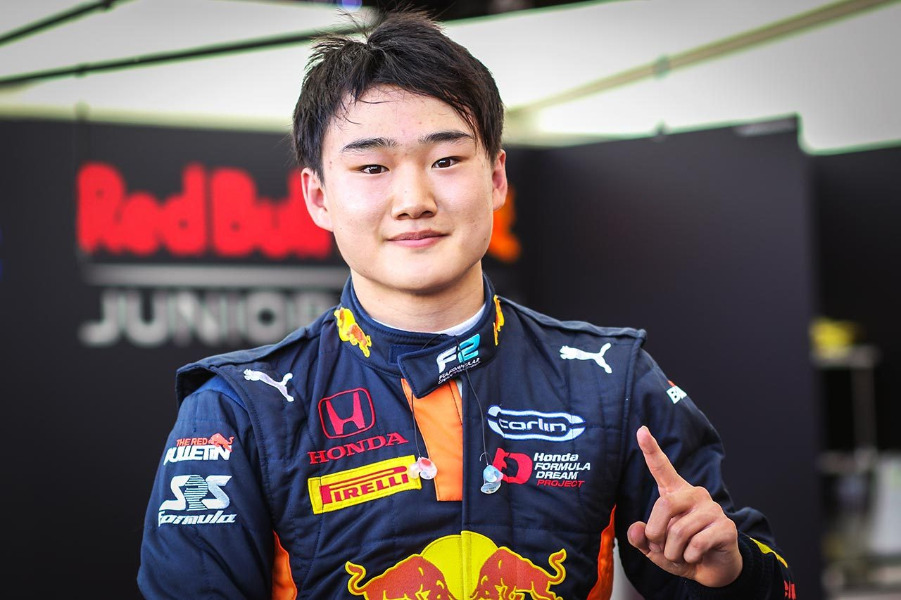 FIA-F2で初ポールを獲得した角田裕毅