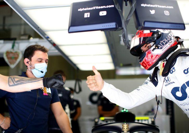 F1 | ガスリー8番手「スーパーハッピー!黄旗がなければ5番手だったかも」アルファタウリ・ホンダ【F1第2戦予選】