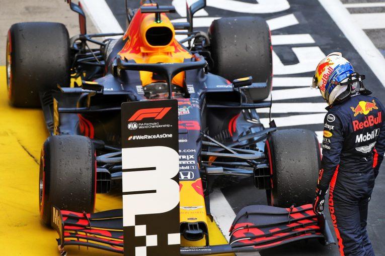 F1 | ホンダが2020年初表彰台「チームと共に問題対策と戦闘力向上に取り組み、3台入賞を果たした」と田辺TD【F1第2戦決勝】