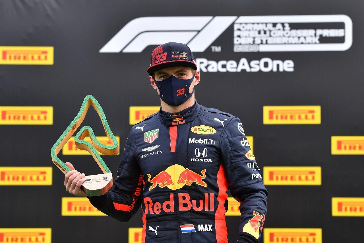 2020年F1第2戦シュタイアーマルクGP マックス・フェルスタッペン(レッドブル・ホンダ)が3位を獲得