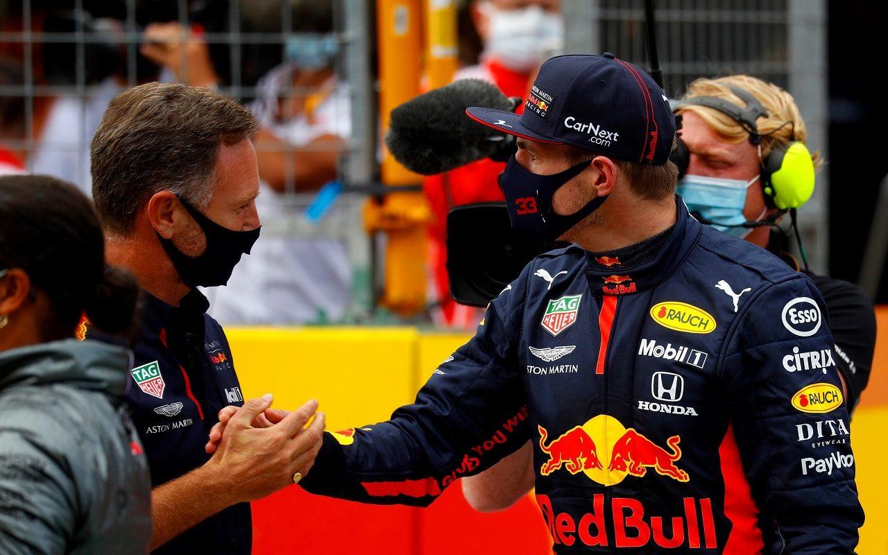 2020年F1第2戦シュタイアーマルクGP マックス・フェルスタッペン(レッドブル・ホンダ)とチーム代表クリスチャン・ホーナー