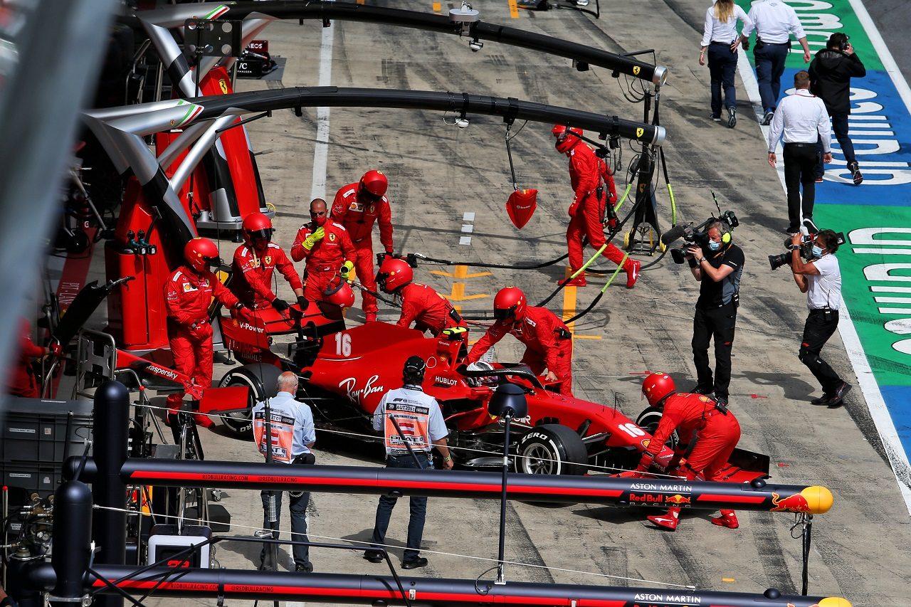 2020年F1第2戦シュタイアーマルクGP シャルル・ルクレール(フェラーリ)がリタイア