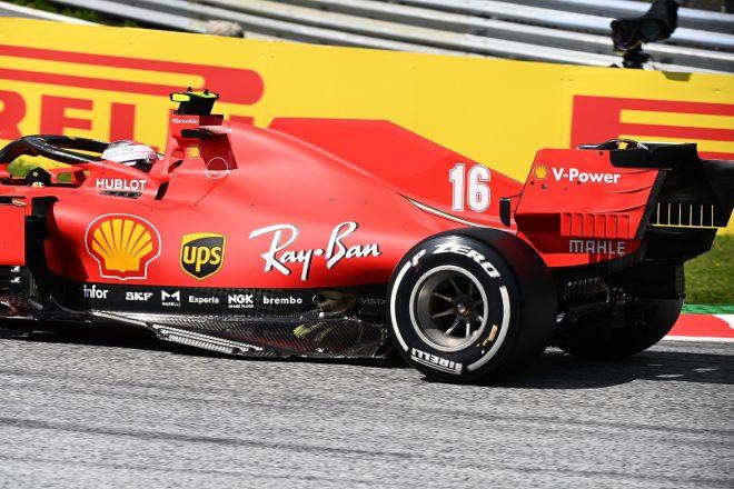2020年F1第2戦シュタイアーマルクGP セバスチャン・ベッテルとの接触でダメージを負ったシャルル・ルクレール(フェラーリ)のマシン