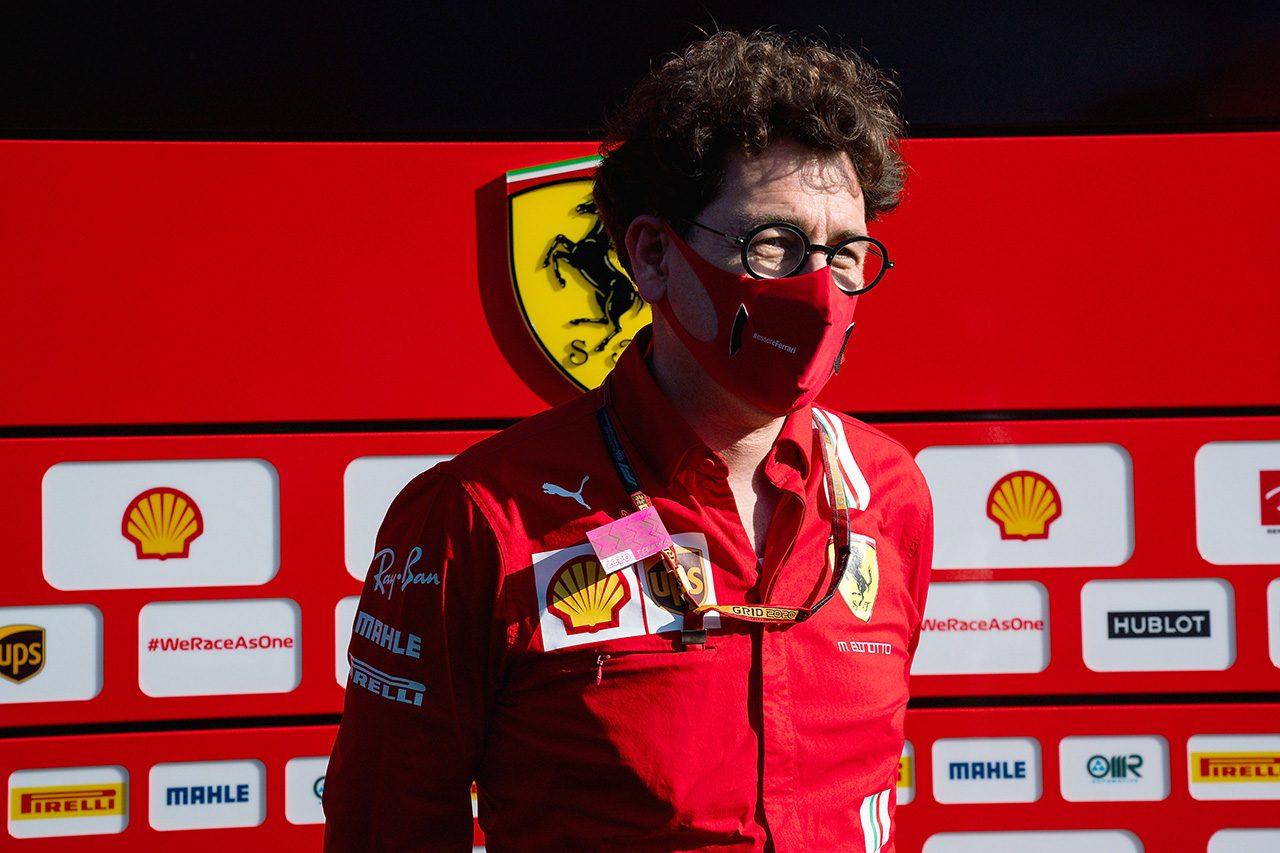 2020年F1第2戦シュタイアーマルクGP マッティア・ビノット(フェラーリ チーム代表)