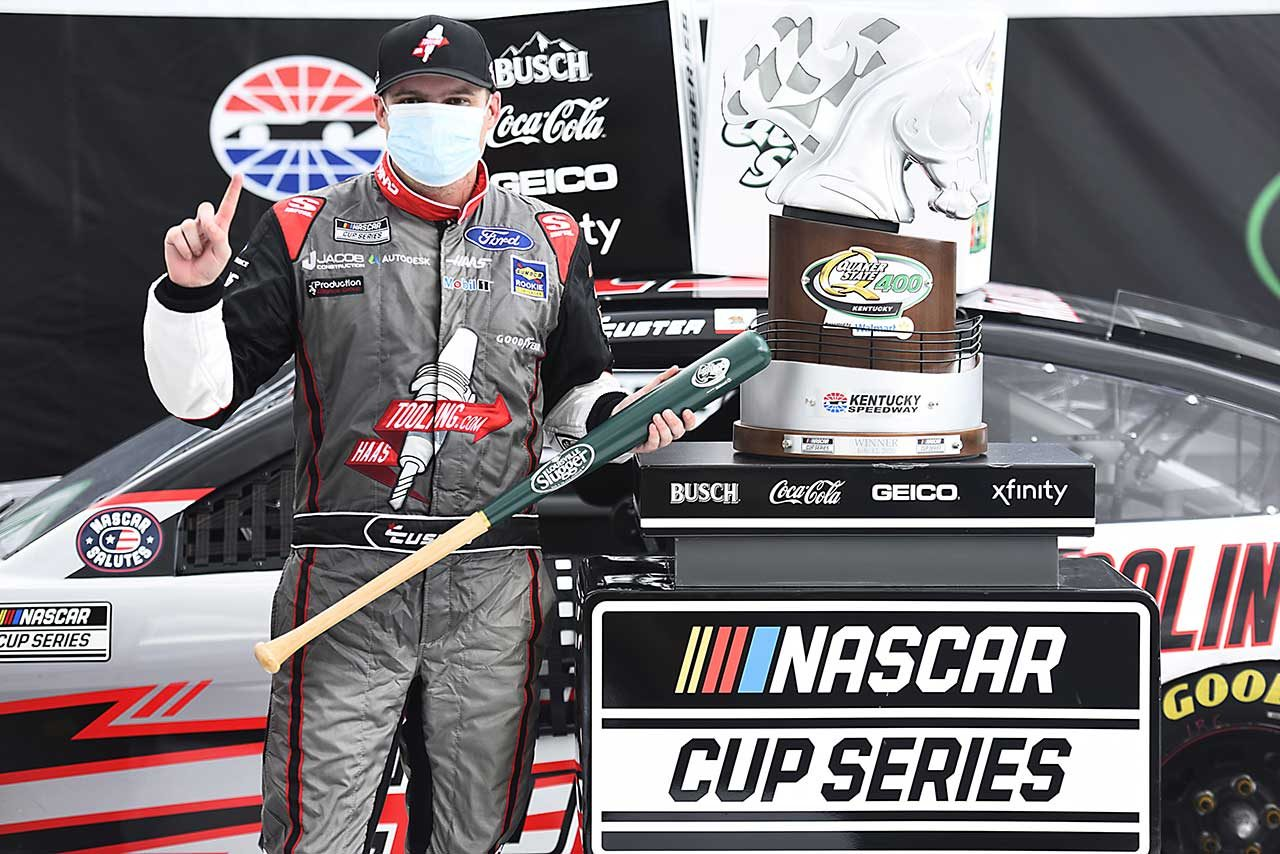 NASCARケンタッキーを制したコール・カスター(フォード・マスタング)