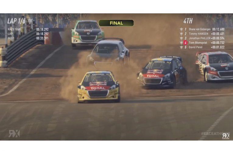 ラリー/WRC   WorldRX:eシリーズ最終戦はSVG勝利も、世界王者ハンセンが仮想空間でもタイトル獲得