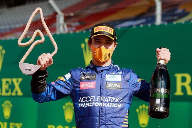 2020年F1第1戦で3位表彰台を獲得したランド・ノリス(マクラーレン)