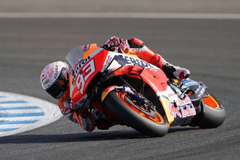 MotoGP   MotoGP第2戦スペインGPで総合トップのマルケス兄、転倒のFP2では新シャシーで走行