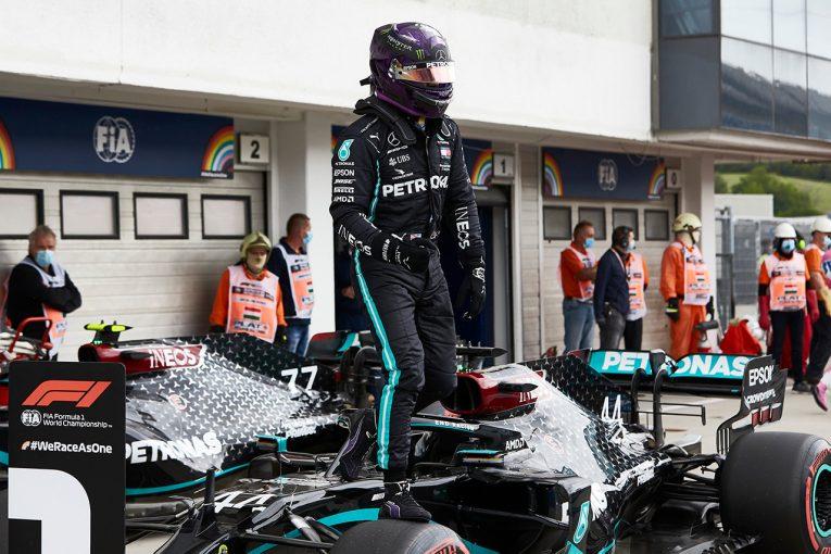 F1 | ハミルトンがコースレコードを樹立し90回目のポール獲得。レーシングポイントが2列目独占【予選レポート/F1ハンガリーGP】